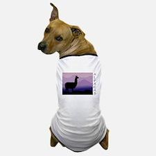 alpaca purple mountains Dog T-Shirt