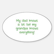 My dad knows a lot Sticker (Oval)