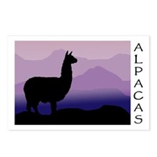 alpaca purple mountains Postcards (Package of 8)