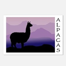 alpaca purple mountains Postcards (Package of 8)