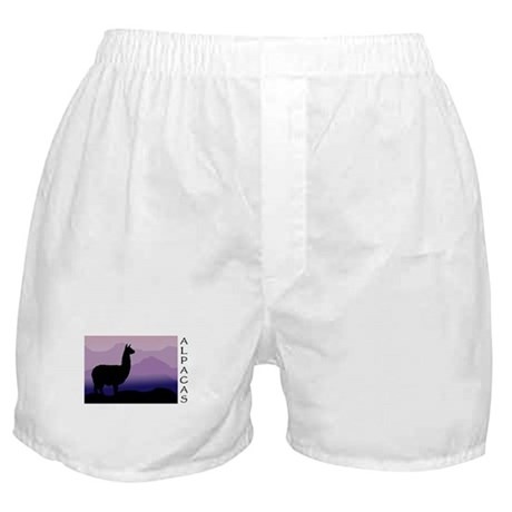alpaca purple mountains Boxer Shorts