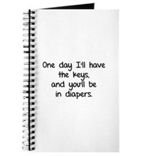 One day I'll have the keys Journal