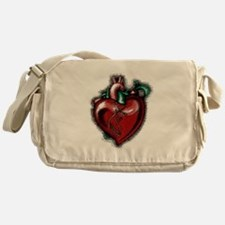 Apple Heart Messenger Bag