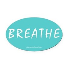 Breathe Magnet Oval Car Magnet