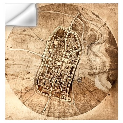 Historical city map of Imola, Italy Wall Decal