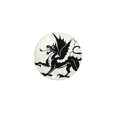 Medieval Dragon Mini Button (100 pack)