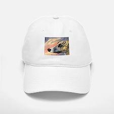 Brindle whippet greyhound dog Baseball Baseball Cap