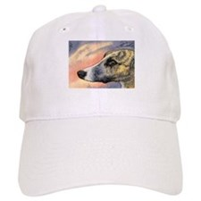 Brindle whippet greyhound dog Baseball Cap