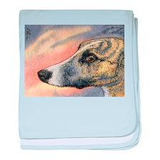 Brindle whippet greyhound dog baby blanket