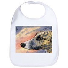 Brindle whippet greyhound dog Bib
