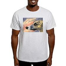 Brindle whippet greyhound dog T-Shirt