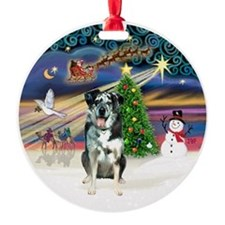 XmasMagic-Catahoula Leopard Dog Ornament