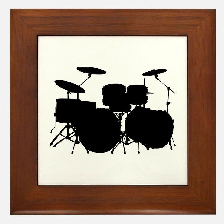 Drums Framed Tile