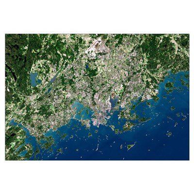 Helsinki, satellite image Canvas Art