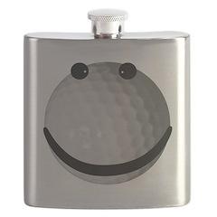 Golf ball smiley Flask