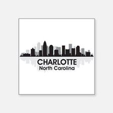 "Charlotte Skyline Square Sticker 3"" x 3"""