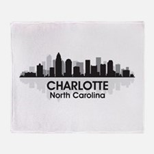 Charlotte Skyline Throw Blanket