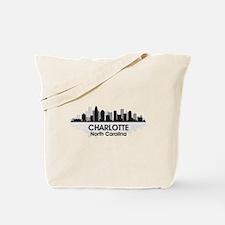 Charlotte Skyline Tote Bag