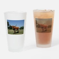 Longhorn cow Drinking Glass