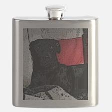 """""""Artsy Black Dog"""" Flask"""
