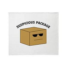 Suspicous Package Throw Blanket