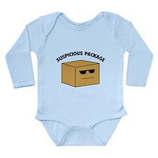Suspicous Package Long Sleeve Infant Bodysuit