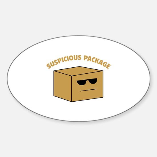 Suspicous Package Sticker (Oval)