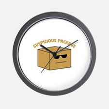 Suspicous Package Wall Clock