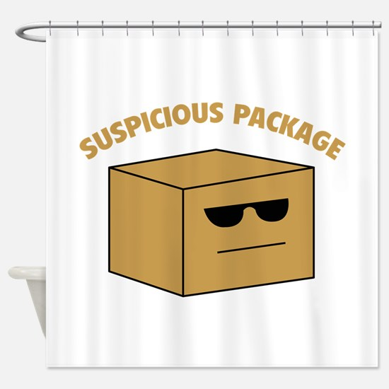 Suspicous Package Shower Curtain