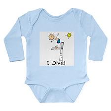 Boy I Dive Long Sleeve Infant Bodysuit