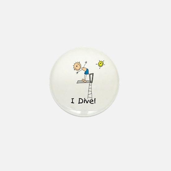 Boy I Dive Mini Button