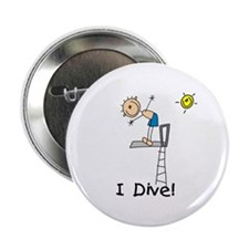 "Boy I Dive 2.25"" Button"