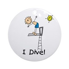 Boy I Dive Ornament (Round)