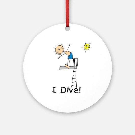 Boy I Dive Ornament (Round)