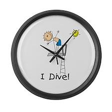 Boy I Dive Large Wall Clock