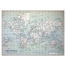 Map2 Darwin's Beagle Voyage South America Poster