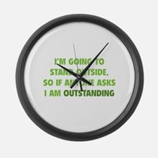 I Am Outstanding Large Wall Clock
