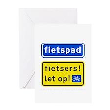 fietspadFietsers Greeting Card