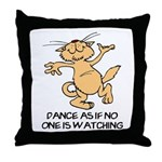 Dancing Cat Throw Pillow