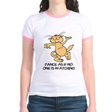 Dancing Cat Jr. Ringer T-Shirt