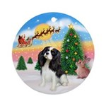 Take Off - Tri Color Cavalier Ornament (Round)