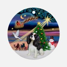 XmasMagic-Tri Color Cavalier Ornament (Round)