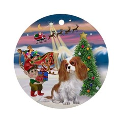 Take Off - Cavalier (blen1) Ornament (Round)
