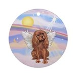 Clouds-Ruby Cavalier Ornament (Round)