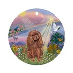 CloudAngel-Ruby Cavalier Ornament (Round)
