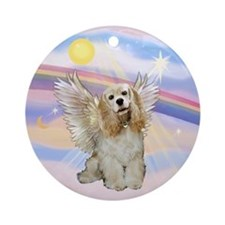 Cocker Spaniel Angel in Clouds Ornament (Round)