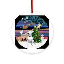 Bull Terrier Xmas Magic Ornament (Round)