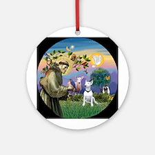 Saint Francis & Bull Terrier Ornament (Round)