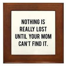 Nothing is really lost Framed Tile
