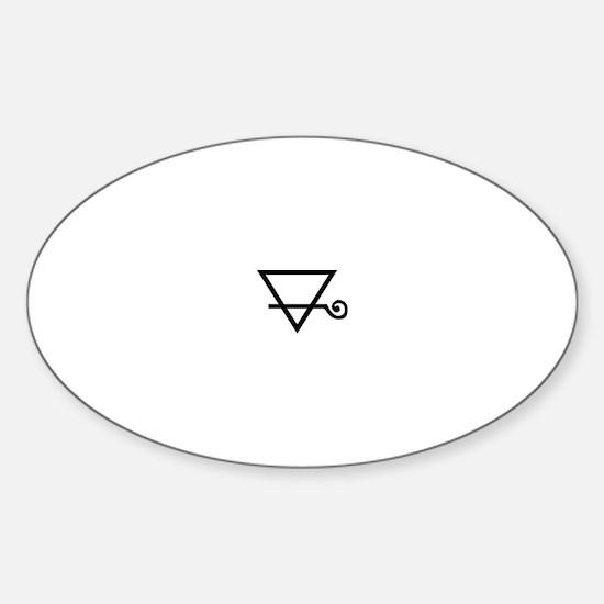 Earth Symbol Sticker (Oval)